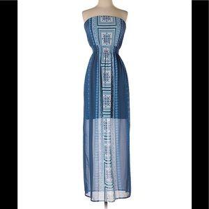 MAURICE'S Blue Maxi Dress